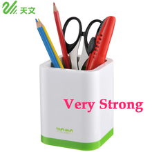 Tenwin Brand Square Plastic Desk Pen Pencil Holder Stand Cup Organizer Gift Office Desk Accessories School Supplies TN1000