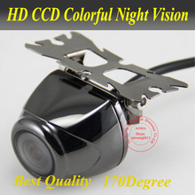 Promotion New arrival CCD 170 deg universal car Rear parking assistance Monitoring continuous work camera night vision Free Ship