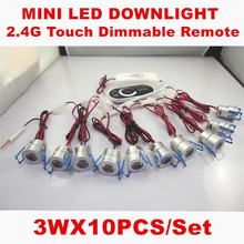 Dimmable 3W MINI LED Downlight AC110-240V Mini LED Cabinet Light Include led drive CE ROHS Ceiling Lamp Mini Spotlight 10pcs/set