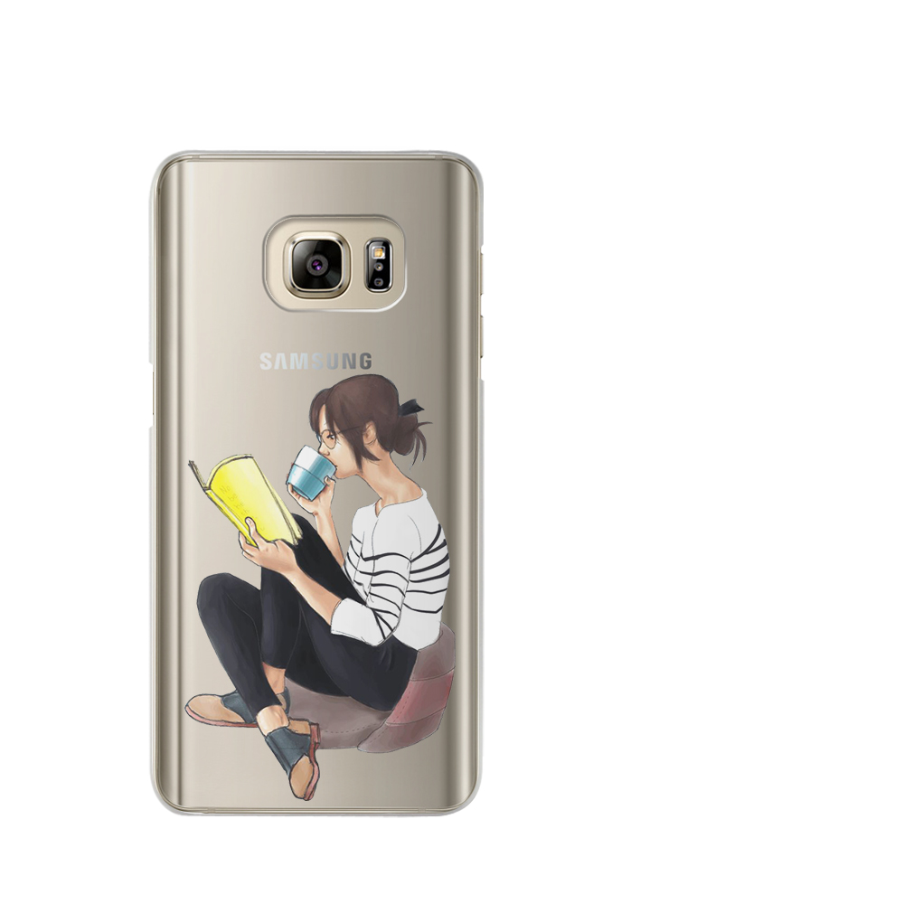 VIYISI Phone case For Samsung Galaxy S8 S9 Plus For Samsung galaxy a5 2017 Case Paris Girl J7 J5 J3 A3 2015 2016 S6 S7Edge Shell
