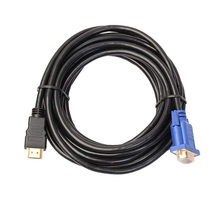 3/5M 340 MHz HDMI Gold Male To VGA HD Male 15Pin Copper Adapter 1080P HDTV Converter Cable L3FE