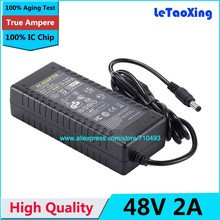 1pcs AC DC 48V 2A Power Adapter Supply 96W Switch For LED Strip Desktop Replacement Charger CCTV With IC Chip