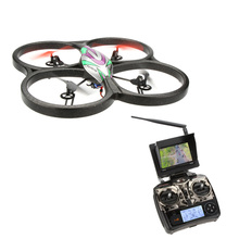 WLtoys V666 5.8G FPV 6 Axis 4CH RC Big Quadcopter UFO With 2.0MP HD Camera and Monitor RTF Helicopter Vier-Rotor-Flugzeuge