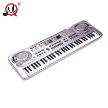 61 Keys Kids Digital Piano Musical Instrument Professional Silver Keyboard Toy Multifunction Electronic Music Toys For Children(China)