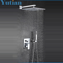 Free shipping modern Luxury 12 inch big Bath & Shower Faucet mixers taps bathroom shower sets hotels chuveiro lanos lada ducha(China)