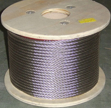 2mm 10M/Roll High Tensile  AISI 316 Stainless Steel Wire Rope 7X7 Structure Cable