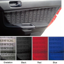 100CM x160CM JDM BRIDE Racing Car Seats Auto Fabric Black Red Blue BRIDE Car Seats(China)