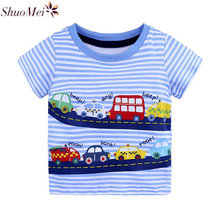 Buy Summer Children Clothing Boys Tops 2018 Kid T shirts Boys Clothes Kids Tee Shirt 100% Cotton Character Print Baby Boy Clothing for $5.82 in AliExpress store