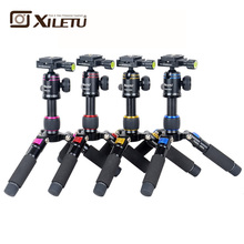 XILETU FM5S-MINI Lightweight Alluminum Tripod Tabletop Mini Travel Stand Tripod with 360 Degree Ball Head For Digital Camera