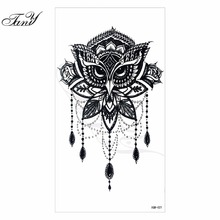2017 NEW Models waterproof temporary tattoo owl tatoo henna fake flash tattoo stickers Taty tatto tattoos tatuajes(China)