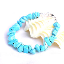 Blue Stone Bracelet Jewelry Blue Natural Stone Bracelet Wristband Charm Braclet For Men Women Accessories