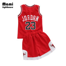 Mamilighthouse New Style Child Baby Basketball Clothing Set Kids Boys Football Uniform Team USA Sport Tracksuit Clothes Sets