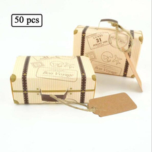 CFen A's Suitcase shape Wedding favor Box sweets Gift Favor Boxes With Pendant Party Decoration Wedding Gifts Favors,50pcs/lot(China)