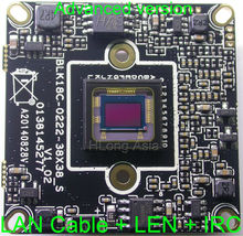 IPC (1080P) support audio Wifi SONY IMX322 sensor + Hi3516C CCTV IP camera module PCB board with cable + 2MP LEN +IRC