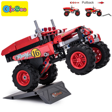 Technic compatible pull back car toy truck enlighten bricks building blocks set block educational toys blocks building bricks(China)