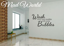 Mad World-Wash Away Troubles Bubbles Wall Art Sticker Decal Home DIY Decoration Wall Mural Removable Room Decor Wall Stickers