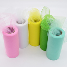 Tulle Roll 6''* 25 yard Organza Spool Tutu Scrapbooking Supplies Wedding DIY Party Baby Shower Decoration Suplies(China)