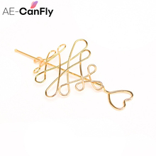 AE-CANFLY Simple Metal Twisted Hairpins Hair Fork Long Pin Stick Women Hair Jewelry HG412(China)