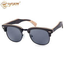 New Fashion Wood Sunglasses Polarized Handmade Ray Wooden Sun Glasses Brand Designer Eyeglasses For Men Women W3036(China)