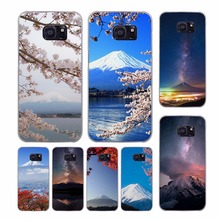 Fujisan Japan design transparent clear hard case cover for Samsung Galaxy S7 S8 Plus S6 S7 edge S5 S4 mini