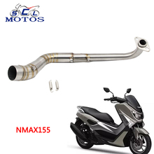 Buy Sclmotos -Stainless Steel Motorcycle Exhaust Pipe Scooter Front Exhaust Full System Pipe Slip-On Fit YAMAHA NMAX 155 for $32.50 in AliExpress store