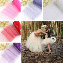 2017 26 Colors Pick 15cm x 225 cm(6inch x 25yard) Tulle Roll Spool Fabric For Tutu Wedding DIY Skirt Gift Craft Party Bow(China)