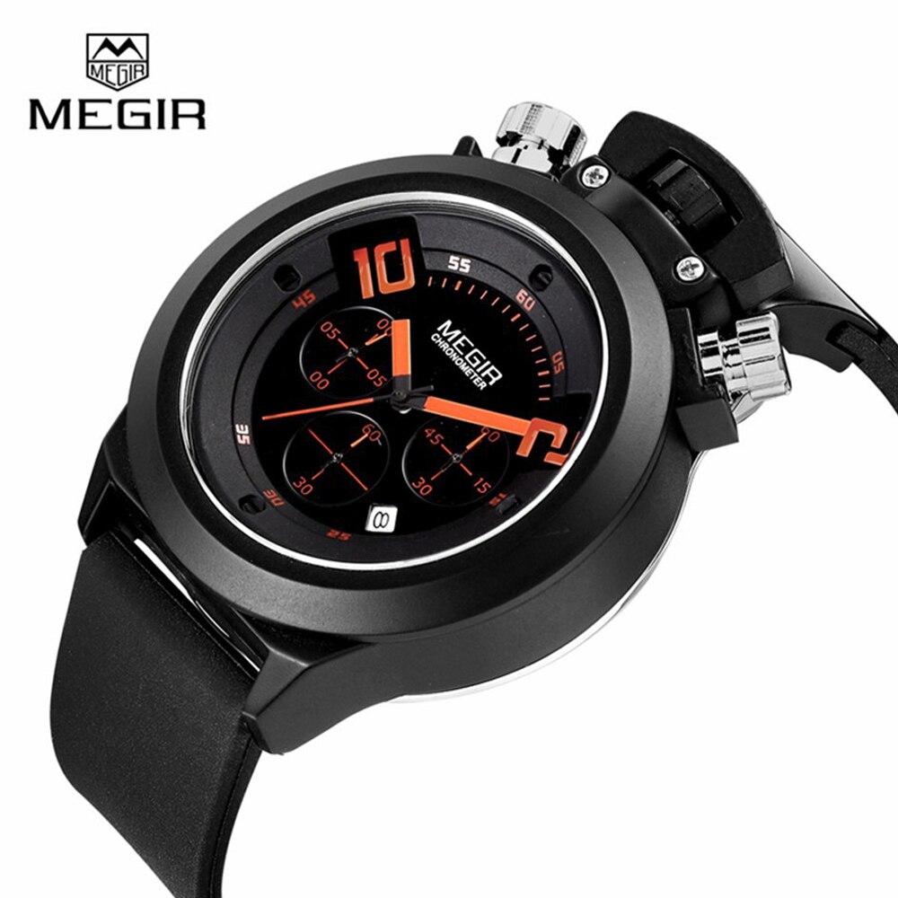 MEGIR Watch Men Watch Silicone Strap Chronograph Watches Waterproof Sport Watches Male Clock Hour relogio masculino reloj hombre<br><br>Aliexpress