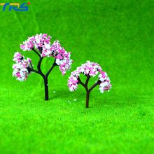 6.4cm HO, N, OO scale architectural model making ABS plastic colorful trees for train layout scenery