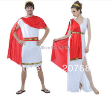 novelty Greek Roman queen costume Arabic Julius Caesar Roman goddess prince Fancy dress Halloween party decorations