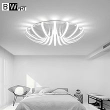 BWART White High Power LED Ceiling chandelier For Living Room Bedroom Home Modern Led Chandelier Lamp Fixture(China)
