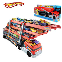 Best Quality Hotwheels Heavy Truck CKC09 Toy Car Hold Truck Boys Kids Hot wheels Gift Toys Model 6 Layer Scalable Parking Floor