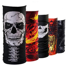 Flames Punk Rock Skull Motorcycle Tube Scarf Headgear Counter-Strike Riding Skull Face Shield Magic Seamless Bandana Mul