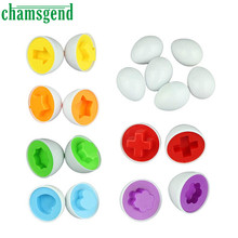 Chamsgend Top Quality 6eggs Learning Education toys Mixed  Wise Pretend Puzzle Smart Eggs Baby Kid  Kitchen Toys Aug3