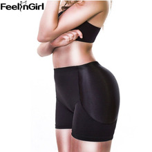 FeelinGirl Lady Padded Butt Hip Enhancer Panties Shaper Buttocks Push Up Women's Underwear Plus Size -E Butt lift Control Panty(China)