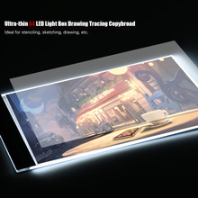 Portable A4 LED Light Pad Box Drawing Tracing Tracer Copy Board Table Pad Panel Copy  Board with Stepless Brightness Control