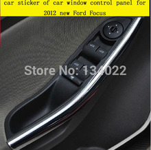 The car sticker of car window control panel Interior door shake handshandle for Ford Focus 3 MK3 car styling