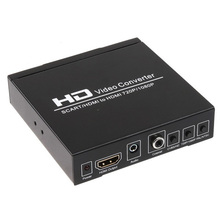 Free shipping SCART and HDMI to HDMI converter,support DVD set-top box HD player Game Console  PS2 PS3 PSP WII XBOX360 etc
