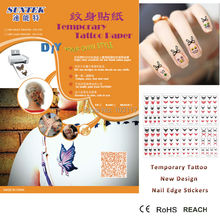(70sets/lot) Removable Blank Waterproof Temporary Tattoo Pattern Nail Body Decal Art Sex Products(China)