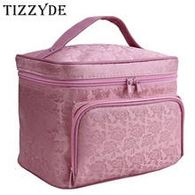 Peony Floral Big Cosmetic Bag Women Waterproof Professional Toiletry Kit Wash Necessaire Travel Organizer Make up Bags SZL63(China)