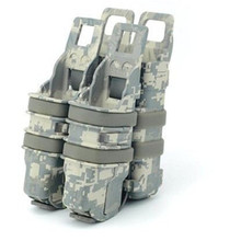"Fast mag Pistol 2 + 1 MAG ""two small pouch and one 5.56 Mag pouch"" M4 Tactical magazine pouch bags 4 color available(China)"