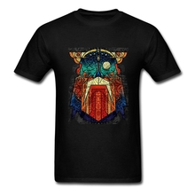 Geometric Modern Odin Vikings T Shirt Big Size Short Sleeve Tshirt Men 2017 New Geek Cotton Funny T-shirts
