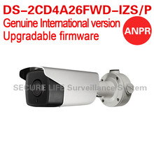 Free shipping English version DS-2CD4A26FWD-IZS/P 2MP ANPR Ultra-Low Light Bullet CCTV Camera LPR POE 2.8-12mm 8-32mm IP67