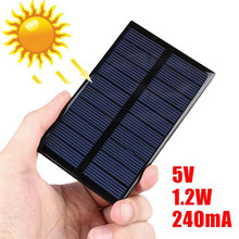 MVpower Portable Solar Panel 5V 240mA Cell DIY Battery Charger Mini Solar Panel Module Solar System Cells for Cell Charger Toy(China)
