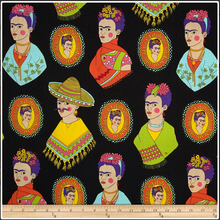140cm Width Cotton Fabric Vintage Frida Kahlo Print The World Famous Paintings Frida Series a Patchwork for Dress DIY-AF135(China)