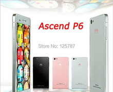 DHL Fast Delivery HuaWei Ascend P6 Cell Phone Hisilicon K3V2 Quad Core Android 4.2 4.7 Inch IPS 1280X720 2GB RAM 8GB ROM 8.0MP