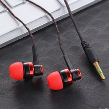 3.5mm In-Ear MP3 MP4 Wiring Subwoofer Headset Ear Braided Rope Wire Cloth Rope Earplug Noise Isolating Earphone Hot Sale
