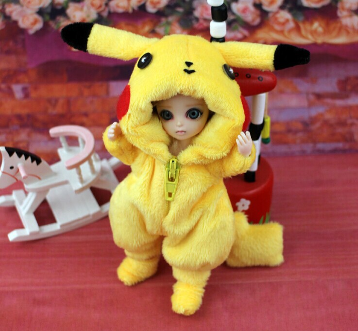 Cute Animal Outfit for BJD Doll 1/12 Pukipuki  Doll Clothes<br>