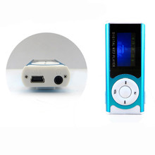 Malloom 2017 Shiny Slim Mini USB Clip LCD Screen MP3 Media Player led light Support MP3/WMA audio 16GB Micro SD card #LYFE04(China)
