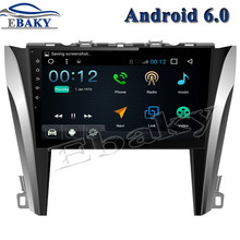 Newest 10.1 inch 1024*600 Quad Core 16G Android 6.0 Car DVD Player for Toyota Camry 2015 GPS navigation Bluetooth 3G wifi map