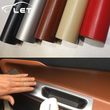 leather pattern PVC adhesive vinyl wrap film sticker for auto car body internal decoration vinyl wrap